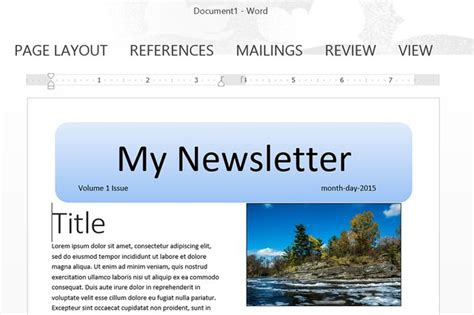 how to make a template in how to make a newsletter template in word techwalla