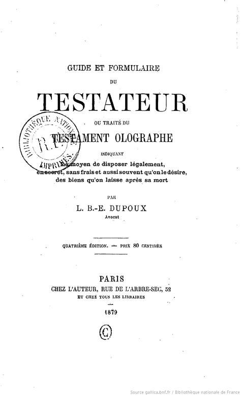 Exemple De Lettre Justice De Paix Modele Testament Ecrit Document