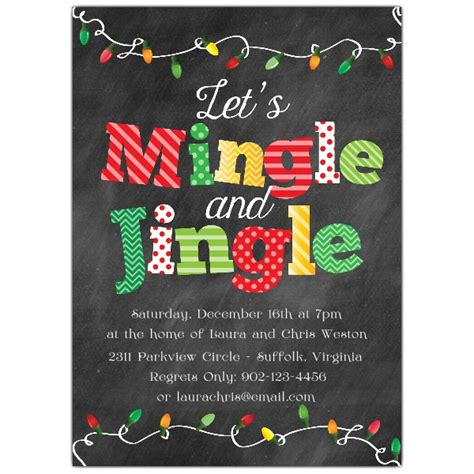 mingle and jingle lights invitations paperstyle