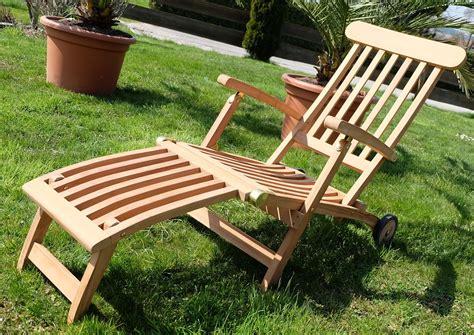 alles für garten und terrasse teak liegestuhl deckchair mit r 228 dern alles f 252 r garten