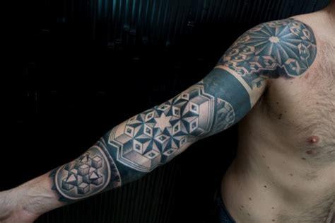 black and white tattoo sleeve designs black ink lotus on neck