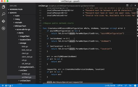 format file in visual studio code microsoft vscode go libraries io