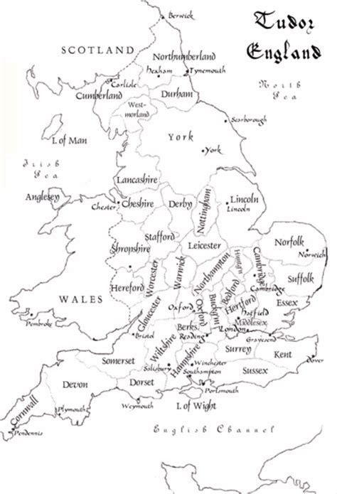 tudor england counties map britain mappery