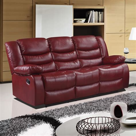 cranberry leather sofa belfast cranberry red recliner sofa collection in bonded