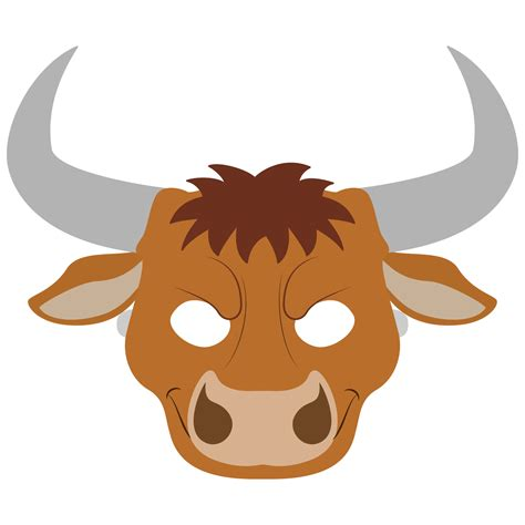bull mask template free printable papercraft templates