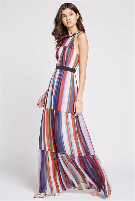 Maxy Stripe rainbow stripe maxi dress