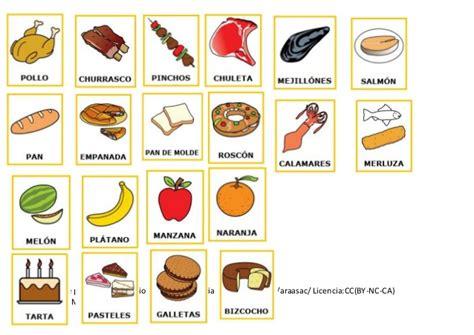 pictogramas alimentos los alimentos