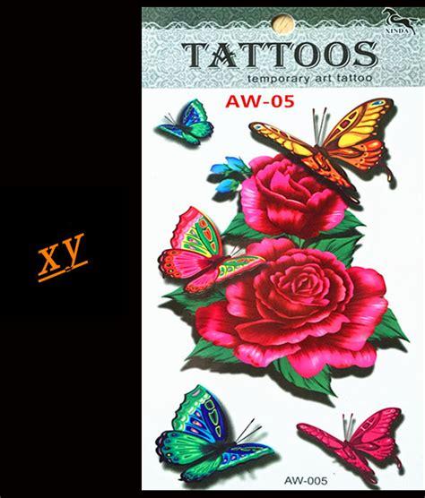tahan air temporary tattoo stiker sexy lucu kartun castle desain tahan air stiker tato temporer cinta bunga mawar desain