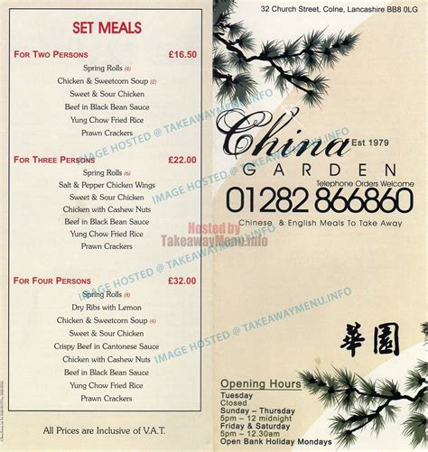 Call China Garden by China Garden Takeaway Menu Colne Takeawaymenu Info