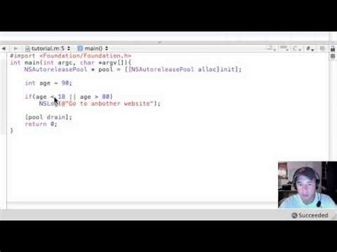 if statement objective c objective c programming tutorial 19 nested if