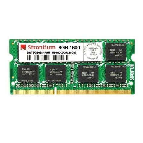 Ram Ddr3 Pc12800 8gb strontium ddr3 8gb 1600mhz pc3l pc12800 ram sodimm srt8g86s1 p9z jakartanotebook