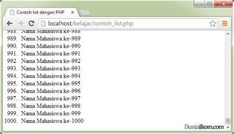 membuat website dengan php menggunakan dreamweaver pengertian dan fungsi php dalam pemrograman web duniailkom