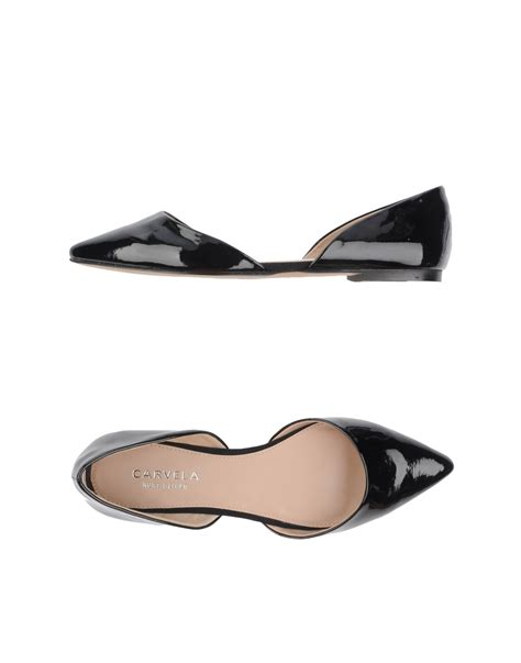 carvela flat shoes carvela kurt geiger ballet flats in black lyst
