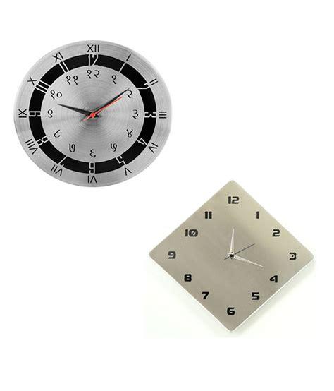stylish wall clocks cosmosgalaxy stylish wall clock combo buy 1 get 1 free
