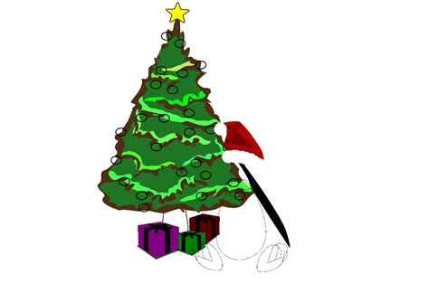 christmas penguin clip art free