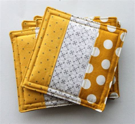 Patchwork Coasters - patchwork quilted fabric coasters 6 pack i m so