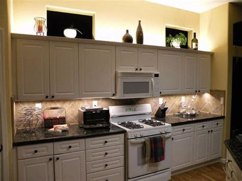 rope lights above cabinets in kitchen over cabinet lighting using led modules or led strip