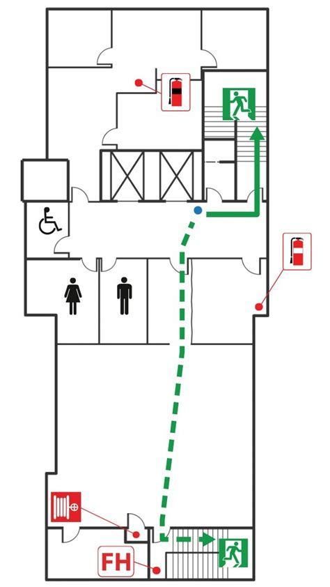uniformed fire safety evacuation diagrams