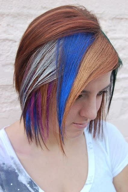 amazing multi colored highlights the haircut web multi colored hairstyles the haircut web