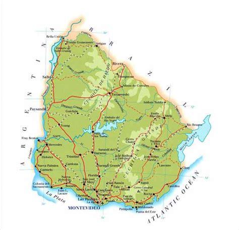uruguay on a world map 2 uruguaymap 点力图库