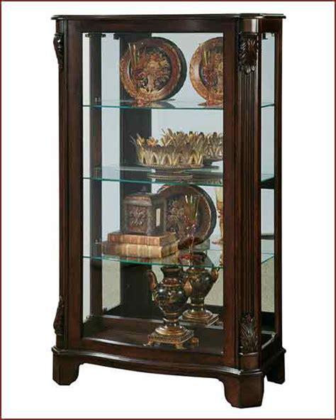 Pulaski Curved Glass Curio Cabinet by Pulaski Curved Mantel Curio Pf 21429