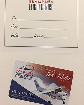 Gift Cards For Flights - gift card for classic introductory flight brton flight centre