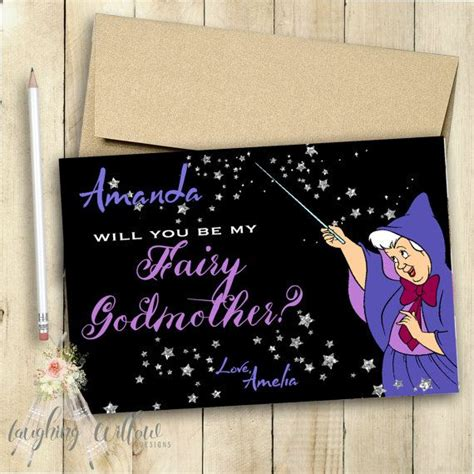 Will You Be My Godmother Printable Card Free