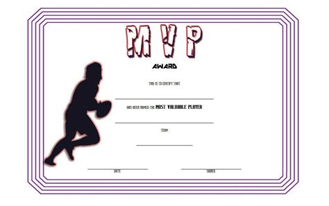 rugby league certificate templates rugby certificate template 6 best 10 templates