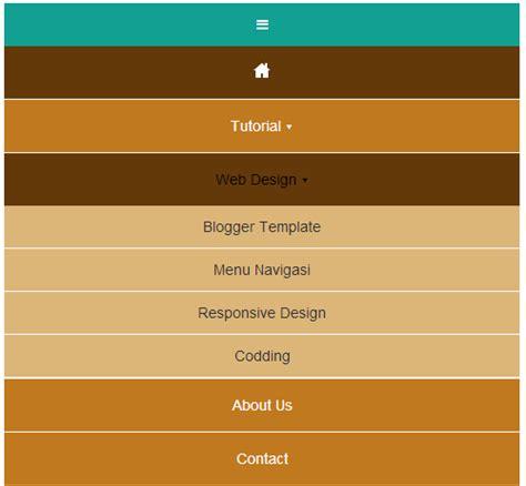 membuat menu dropdown responsive responsive menu navigasi tanpa javascript problogiz
