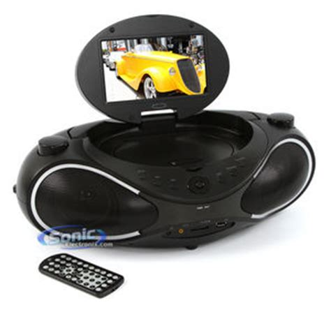 Go Portable Dvd Boom Box Suffers From A Split Personality by Gpx Bd702b Portable 7 Inch Dvd Cd Player Mp3 Usb Radio
