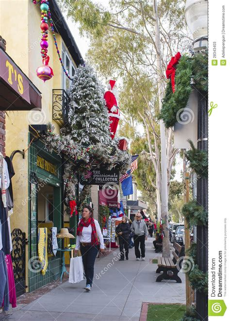 christmas shopping newport beach california editorial
