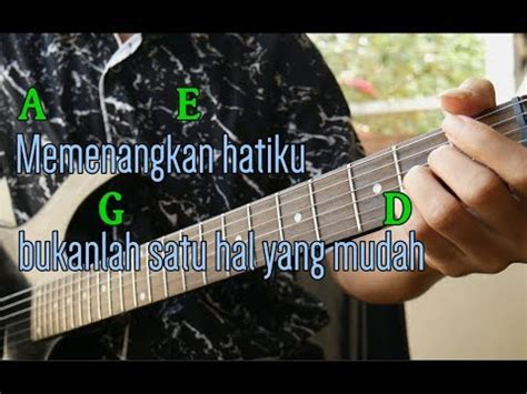 tutorial gitar lagu bukti virgoun bukti kunci gitar tab petikan intro mudah youtube