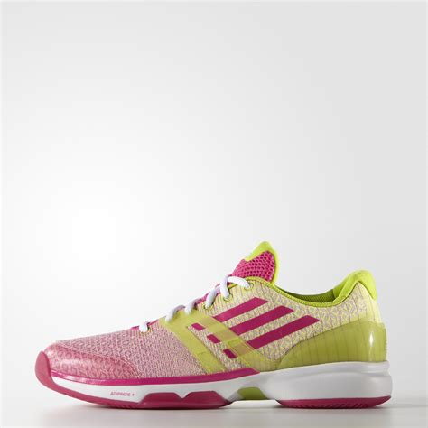 adidas womens adizero ubersonic tennis shoes green pink