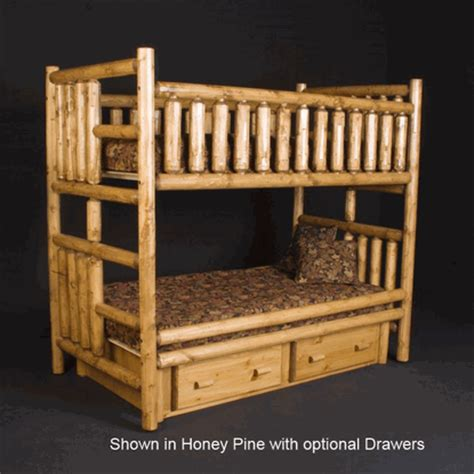 Pine Log Bunk Beds Viking Northwoods Log Bunk Bed