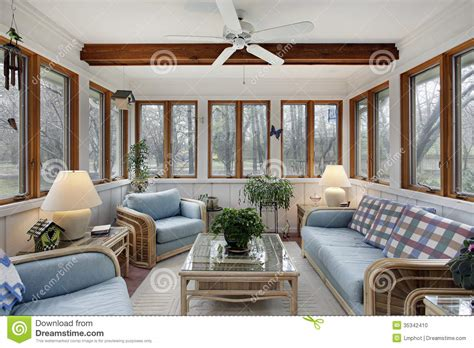 Home Decor Furnishings Accents Sunroom With Wood Ceiling Beam Stock Photo Image 35342410