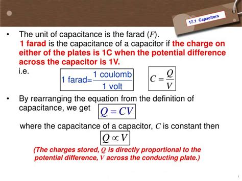 farad capacitor equation ppt 17 1 capacitors 17 2 capacitors in series and parallel powerpoint presentation id 2689402