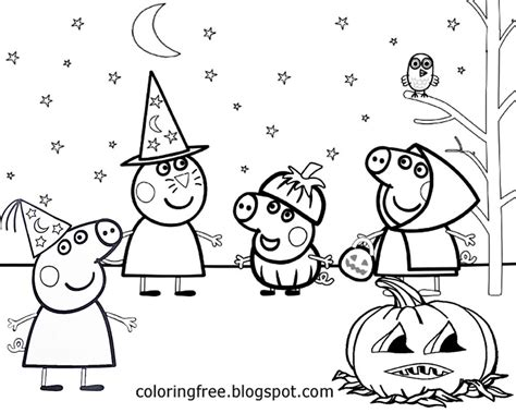 peppa pig halloween coloring pages free coloring pages printable pictures to color kids
