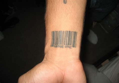 barcode tattoos for men 31 different barcode ideas creativefan