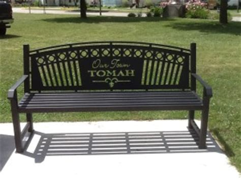 personalized park benches park benches custom designed johns welding shop of tomah wi