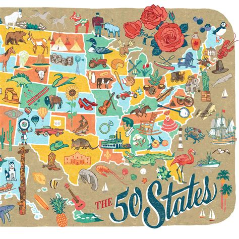 new 50 states map 50 states map print the road again