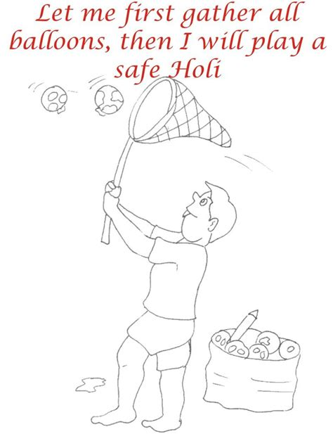 free holi of krishna coloring pages