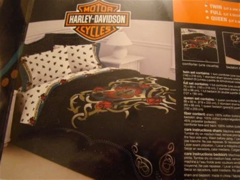 harley davidson tattoo full queen comforter harley davidson twin comforter set heart tattoo bedding ebay