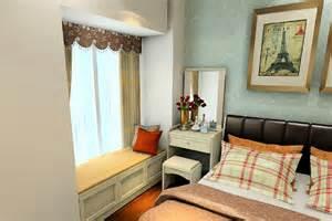 3d bedroom dresser by bay window interior design