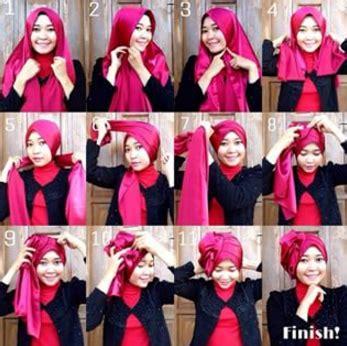 gambar tutorial hijab pashmina satin tutorial hijab pashmina satin simple modis dan elegan