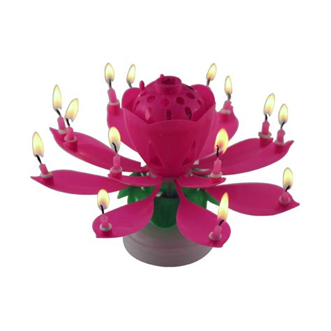 lotus flower birthday candle magic musical lotus flower rotating happy birthday candle