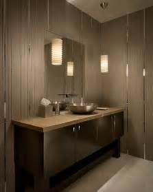 Contemporary Bathroom Pendant Lighting Modern Tiled Bathroom With Stylish Pendant Ls Decoist