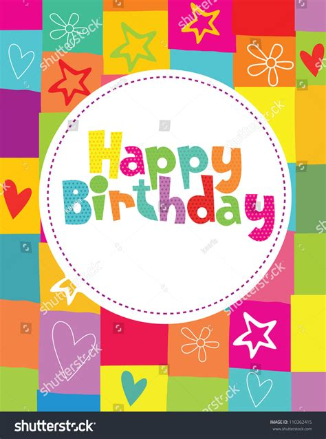 happy birthday card design vector illustration happy birthday card design vector illustration stock