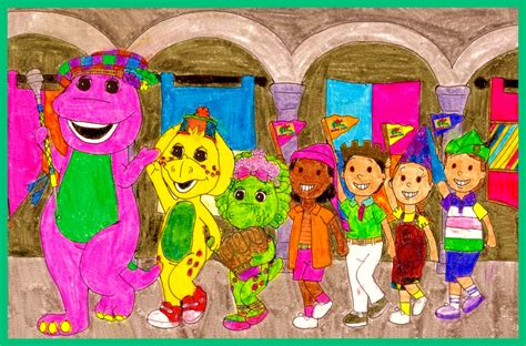 Barney Top Top Barney Musical Castle Live Wallpapers