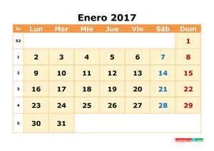 Calendario 2018 Mensual Calendario Enero 2017 Para Imprimir Calendario Mensual