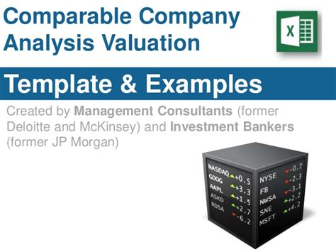 comparable company analysis template
